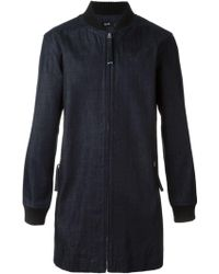 Blood Brother - Denim Ribbed Collar Coat - Lyst