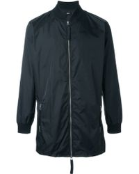 Blood Brother - Ribbed Collar Zip Coat - Lyst