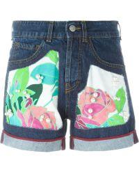 I'm Isola Marras - Rose Patch Denim Shorts - Lyst