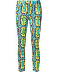 Jeremy Scott - Psychedelic Print Skinny Jeans - Lyst