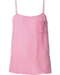 Equipment - Gingham Check Cami Top - Lyst