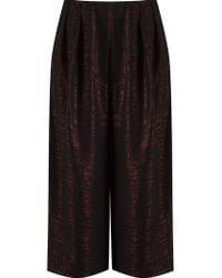 Fernanda Yamamoto - Metallic Cropped Trousers - Lyst