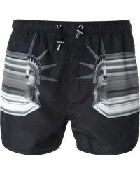 Neil Barrett - Statue Of Liberty Swim Shorts - Lyst