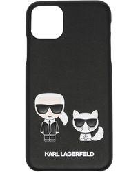 Karl Lagerfeld Karl & Choupette Iphone 11 ケース - ブラック