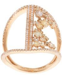 Kristin Hanson - Diamond Bar Ring - Lyst