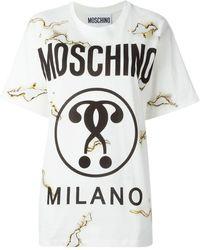 Moschino - Burned Effect Logo T-shirt - Lyst