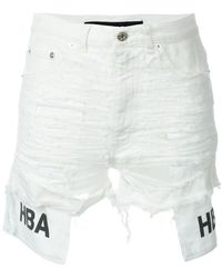 Hood By Air Distressed Denim Shorts - Multicolor