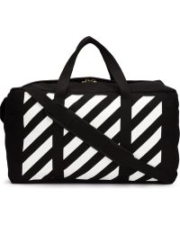 Off-White c/o Virgil Abloh - Striped Holdall - Men - Cotton - One Size - Black
