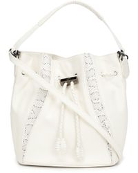 Khirma Eliazov Python Skin Detail Bucket Bag - White