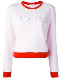 Carven - Logo Print Sweatshirt - Lyst