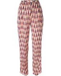 Minimarket - 'luxor' Pattern Tapered High Waist Trousers - Lyst