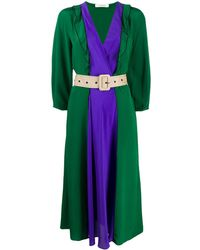 Dorothee Schumacher Платье В Стиле Колор-блок - Зеленый