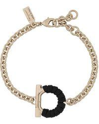 Ferragamo - Gancini Chain Bracelet - Lyst