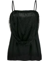 Prada Lace Overlay Camisole - Black