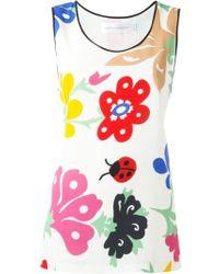 Victoria, Victoria Beckham - 'folk Forest' Print Pyjama Tank - Lyst