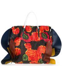 Toga - Floral Print Ruffle Tote Bag - Lyst