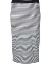 Obey - Striped Pencil Skirt - Lyst