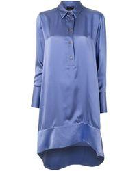 Giorgio Armani Mulberry Silk High Low Shirt - Purple