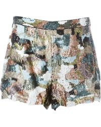 Amen - Sequin Shorts - Lyst