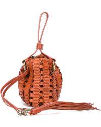 Roberto Cavalli Braided Bucket Handbag - Brown