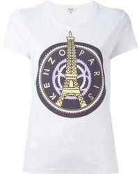 KENZO - 'eiffel Tower' T-shirt - Lyst