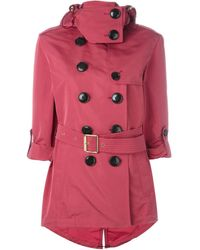 Burberry Brit - Double-breasted Short Raincoat - Lyst