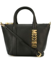 Moschino 'letters' Tote - Black