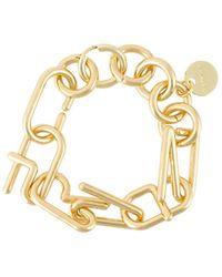 Carven - Logo Bracelet - Lyst