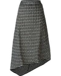 Studio Nicholson 'oriani' Checked Asymmetric Skirt - Black