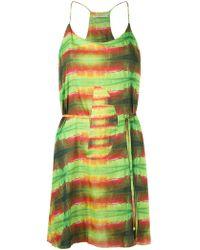 Blue Man - Printed Beach Dress - Women - Polyester - M - Green