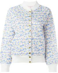 Olympia Le-Tan Alice In Wonderland Print Bomber Jacket - Blue