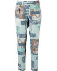 Fernanda Yamamoto - Abstract Print Cropped Trousers - Lyst