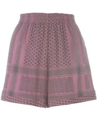 Cecilie Copenhagen - Multi-pattern Elastic Waistband Shorts - Lyst