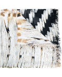 Figue 'basket Weave' Scarf - Brown