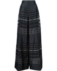 Christian Siriano - Striped Palazzo Trousers - Lyst