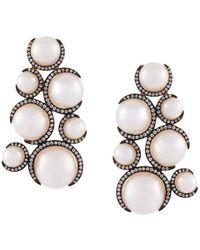 Christina Debs - Multi Pearl Earrings - Lyst