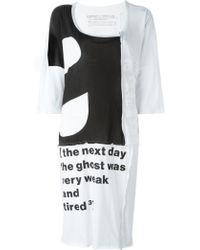 Rundholz Black Label - Quote Print Midi Dress - Lyst