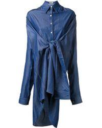 Fad Three - Oversized Wrap Detail Shirt - Lyst