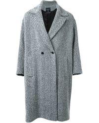 Fad Three - - Double Breasted Coat - Men - Cotton/acrylic/nylon/wool - M - Lyst