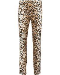 Carolina Herrera - Leopard Print Straight Trousers - Lyst