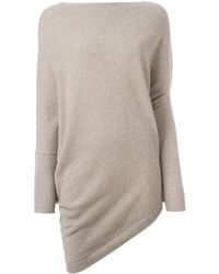 Ralph Lauren Purple Label Asymmetric Hem Sweater - Blue