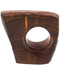 Monies 'cuban' Ring - Brown