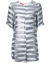Manning Cartell - Metallic (grey) Striped Playsuit - Lyst