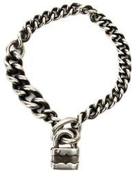 Werkstatt:münchen Padlock Chain Bracelet - Metallic