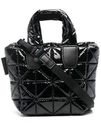 VeeCollective Quilted Mini Tote Bag - Black