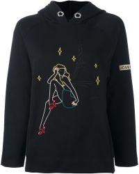 JOUR/NÉ - Jour/né 'parisl' Embroidery Hooded Sweatshirt - Lyst