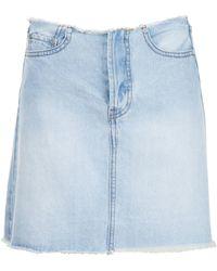 UNIF 'brit' Denim Skirt - Blue