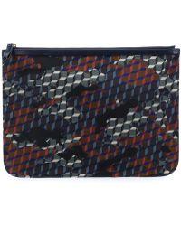Pierre Hardy Camouflage Cube Design Clutch - Black