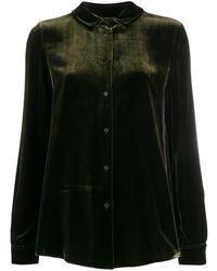 Aspesi Фактурная Рубашка - Зеленый