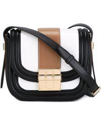 Lanvin Small Lala Leather Shoulder Bag - White